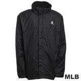(男)MLB-紐約洋基隊可拆帽風衣外套-黑