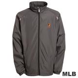 (男)MLB-巴爾的摩金鶯隊立領風衣外套-深灰