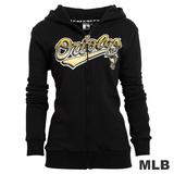 (女)MLB-巴爾的摩金鶯隊厚棉外套-黑