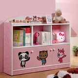 【優力格家具】DIY HAPPI兒童三格三門櫃/書櫃/置物櫃/收納櫃
