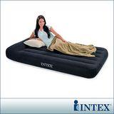 【INTEX】舒適型單人加大植絨充氣床墊(寬99cm)-有頭枕設計