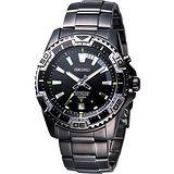 SEIKO 時尚主義萬年曆運動錶(6A32-00S0SD)-IP黑