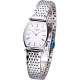 LONGINES 嘉嵐系列酒桶女用超薄鋼帶腕錶 L42054116