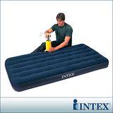 【INTEX】單人加大植絨充氣床墊 (寬99cm)