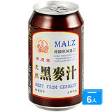 崇德發天然黑麥汁330ml*6入(易開罐)