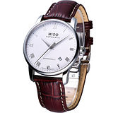 MIDO Baroncelli 男用自動機械腕錶 白面M86004268