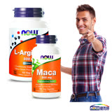 NOW健而婷-真男人套組(瑪卡MACA+精胺酸)