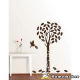 FIXPIX【精靈樹與鳥(絨布) 】創意壁貼(HVS-58608)