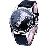 HAMILTON JazzMaster 經典鏤空 機械錶 H32565735 黑色