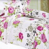 《美麗印象》雙人四件式緹花薄被套床包組