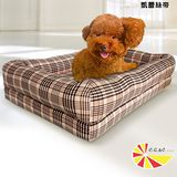 【凱蕾絲帝】太空記憶寵物時尚床墊-特大型犬專用 120*60*5CM-英倫粉格