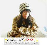 onemall.99雙面超細纖維創意保暖袖毯(豹紋/蘇格蘭)