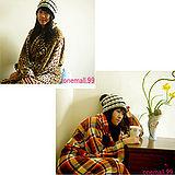 2入onemall.99雙面超細纖維創意保暖袖毯(豹紋/蘇格蘭)