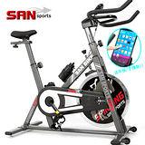 【SAN SPORTS 山司伯特】黑爵士13KG飛輪健身車C165-013 3倍強度.13公斤飛輪車.室內腳踏車.美腿機