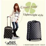 ABS愛貝斯 20吋 日本甜心鏡面亮彩圓點旅行箱(黑)99-032C