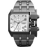 DIESEL 鐵甲戰士率性計時腕錶(DZ4229)-灰黑