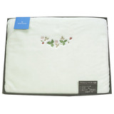 WEDGWOOD田園野莓LOGO圖騰綿毛毯禮盒-粉嫩綠