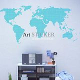 Art STICKER壁貼 。 World map dot (W019)
