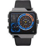 DIESEL 飆風戰士多時區腕錶(DZ7243)