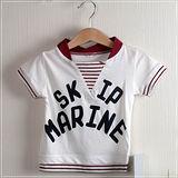 (購物車)魔法Baby ~大海任遨遊水手領短T(紅)~時尚設計童裝~k19612