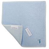 TRUSSARDI 獵狗刺繡直紋雙面方巾-藍