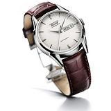 TISSOT VISODATE 1957 復刻自動腕錶(T0194301603101)-銀白