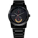 LICORNE 晨曦時尚系列腕錶(LI002MBBA)-IP黑