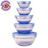 【家魔仕】玻璃烹調保鮮碗(5入)