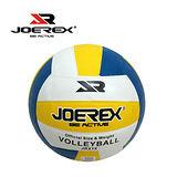 《購犀利》日本品牌【JOEREX】標準5號三色橡膠排球JRX19-2入1組