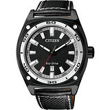 CITIZEN Eco-Drive 光動能時尚腕錶(AW1050-01E)-黑