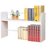 《Homelike》和風伸縮式桌上書架(二色可選)