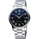 MIDO Baroncelli III 羅馬機械腕錶(M0104081105309)-黑/銀
