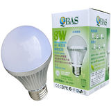 【QBAS】超節能-LED 8W燈泡-白光/黃光(二款可選)1入/組