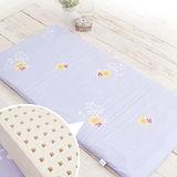 幻紫【奶油獅】100%精梳純棉布套+馬來西亞進口純天然乳膠嬰兒床墊(小60*120cm)