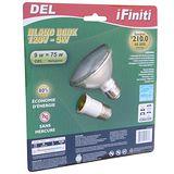 【未來之光】LED9W-Par燈-燈泡-附一個E27加長頭-黃光-1入組/1盒透明包裝