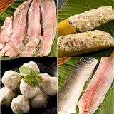 【台江漁人港】魚漿2盒+魚丸2盒+魚肚2盒