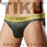 【TIKU 梯酷】~ 金屬系 鐵漢柔情 超彈貼身三角男內褲 (CP1195)
