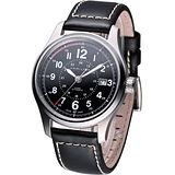 HAMILTON Khaki 航空自動機械腕錶 H70595733 黑