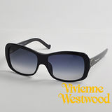 Vivienne Westwood太陽眼鏡★英文字母復古大框面★英倫龐克墨鏡(黑) VW632 04