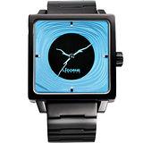 LICORNE 年輪 TreeRings 橙果設計腕錶-藍/IP黑 LI088LBBI-N