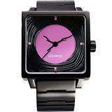 LICORNE 年輪 TreeRings 橙果設計腕錶-紫/IP黑 LI088LBBI-V