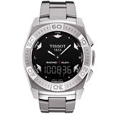 TISSOT Racing Touch 多功能觸控腕錶-黑/銀 T0025201105100