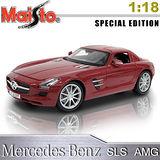 Mercedes-Benz SLS AMG《1/18 》合金模型車 (紅)