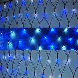 聖誕燈裝飾燈LED燈 128燈 網燈 (藍白色光) (高亮度又省電)