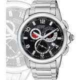 CITIZEN 光動能萬年曆三環鬧鈴腕錶-黑 BL8050-56E