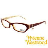 Vivienne Westwood 光學平光鏡框★狂潮土星環LOGO吊飾★英倫龐克風(紅) VW167 07