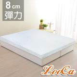 【LooCa】溫感緹花8cm彈力記憶床墊-單人