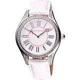 Juicy Couture 羅馬神秘雅典晶鑽腕錶-銀白 J1900876