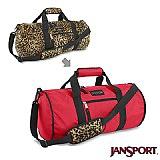 Jansport 21L 校園雙面翻轉側背包(紅/豹紋)