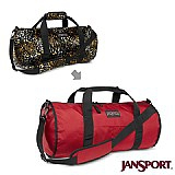 Jansport 21L 校園雙面翻轉側背包(紅/虎斑紋)